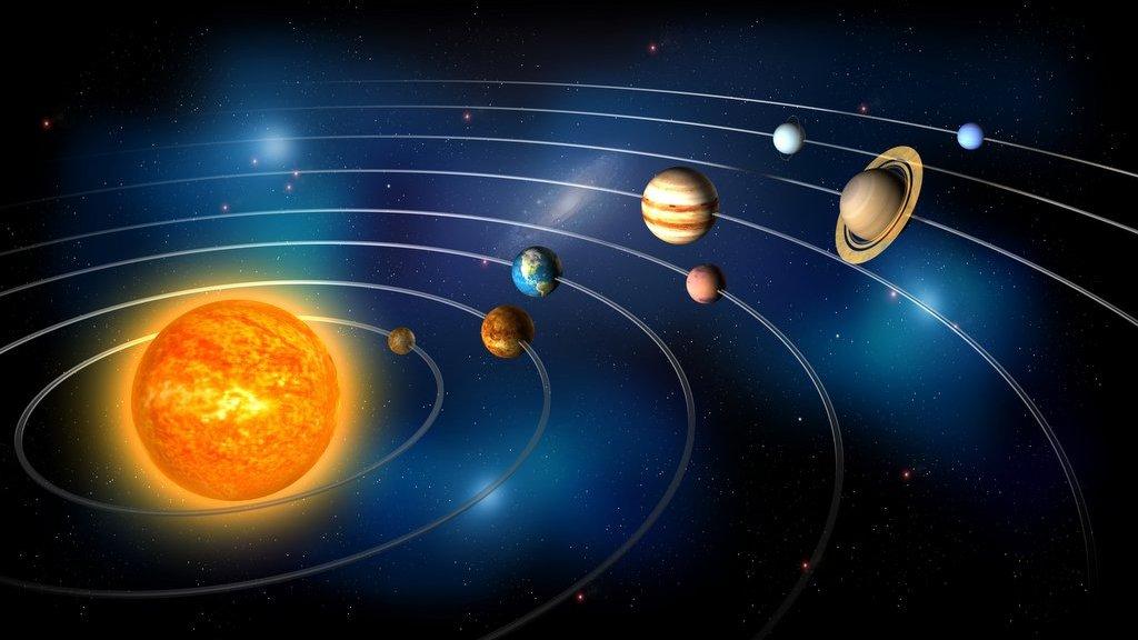 Solsystemets åtta planeter.