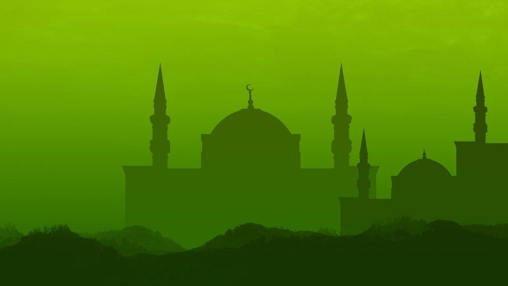 I moskén samlas människor för att be tillsammans.