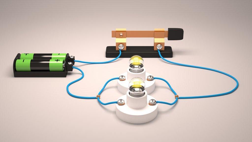 En elektrisk krets som innehåller en parallellkoppling av glödlampor.