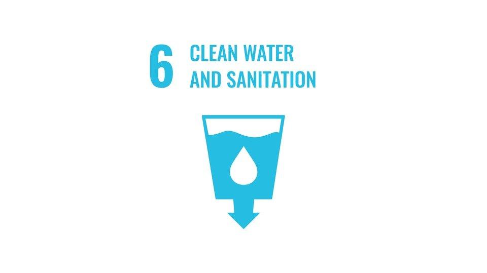 Det globala målet nummer 6: Rent vatten och sanitet.