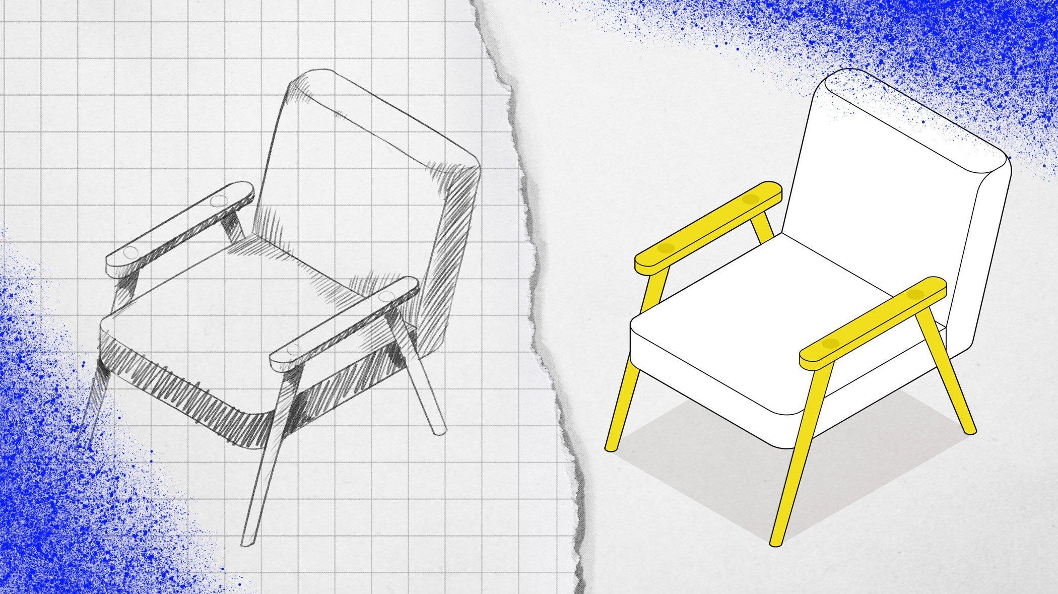 Möbeldesign – vinklar och linjer