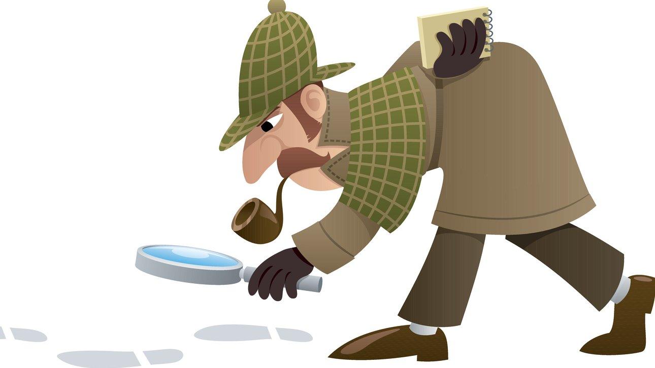 En detektiv följer ledtrådar för att lösa mysteriet.