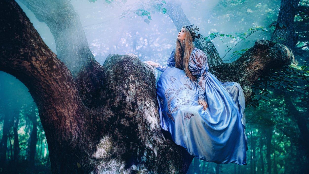 Det finns ofta prinsessor i sagor.