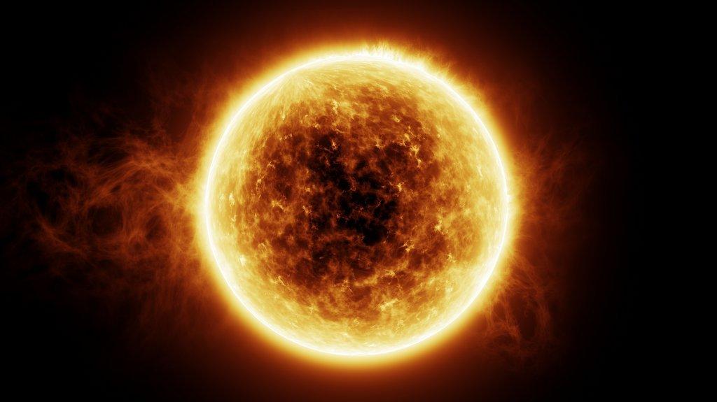 Fusion sker i solen.