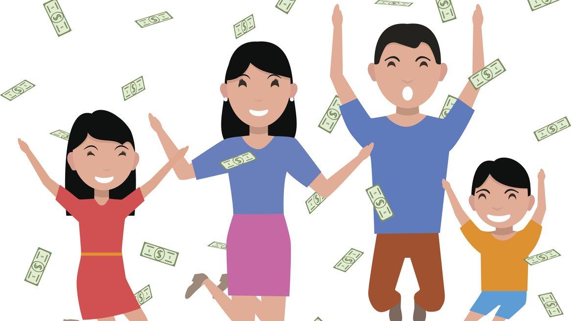 Med pengar kan man göra roliga saker. Men pengarna ska räcka till mycket, som att betala för mat och bostad.