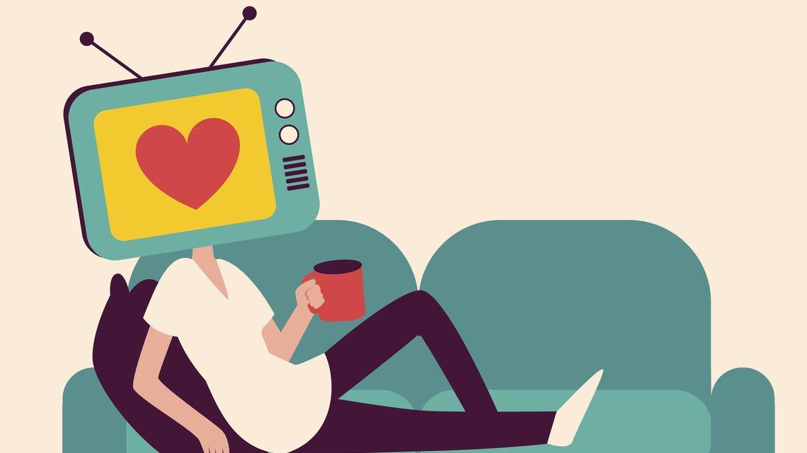 Älskar du att titta på tv, som personen på bilden?