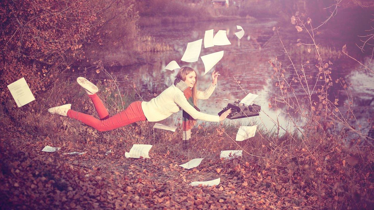 Poesi är en fri texttyp utan en massa regler.
