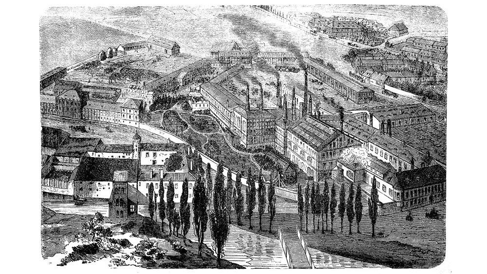 Under industriella revolutionen är det många städer som växer och blir industristäder.