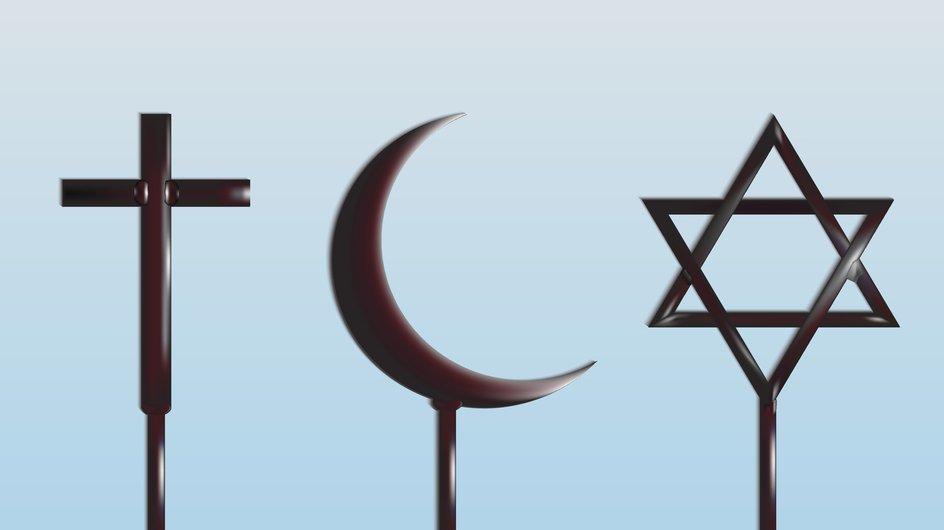 De abrahamitiska religionerna är kristendom, islam och judendom.